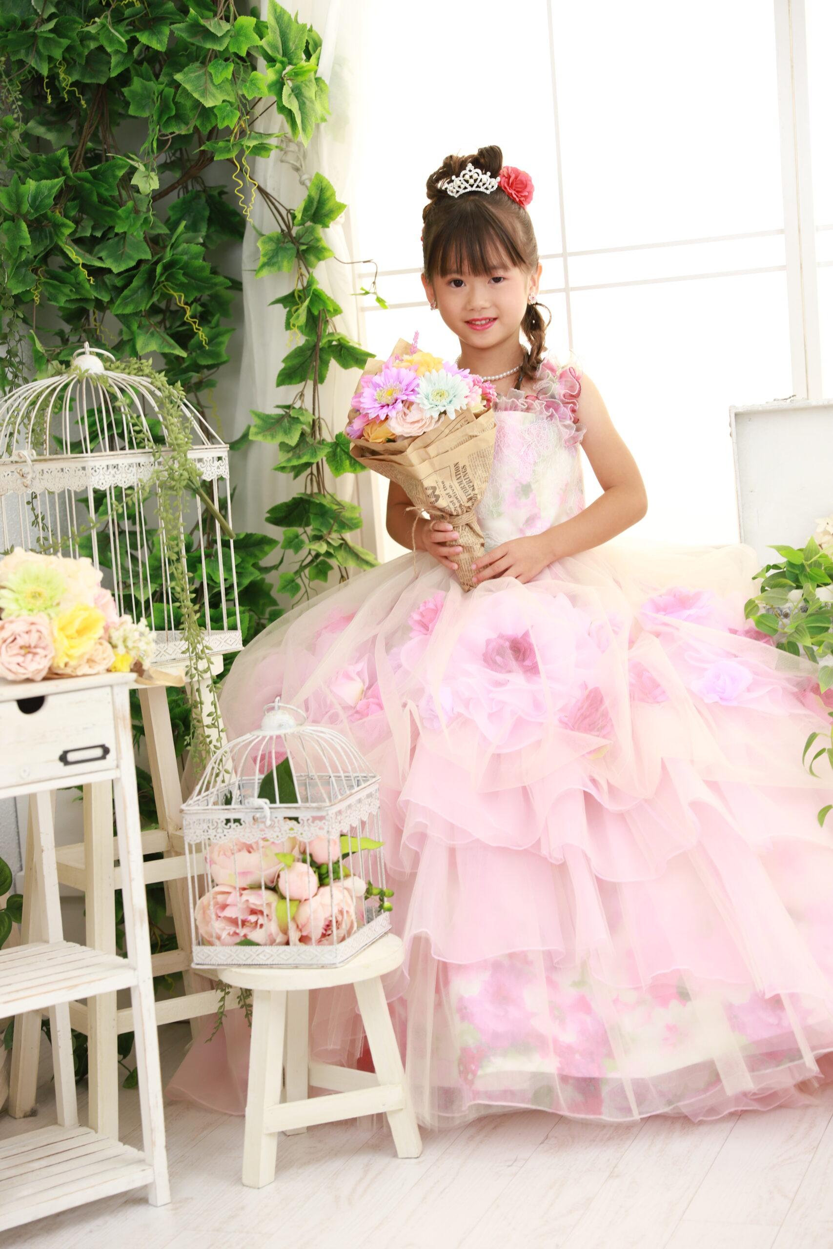 7歳の七五三 ドレスでもご撮影いただけます