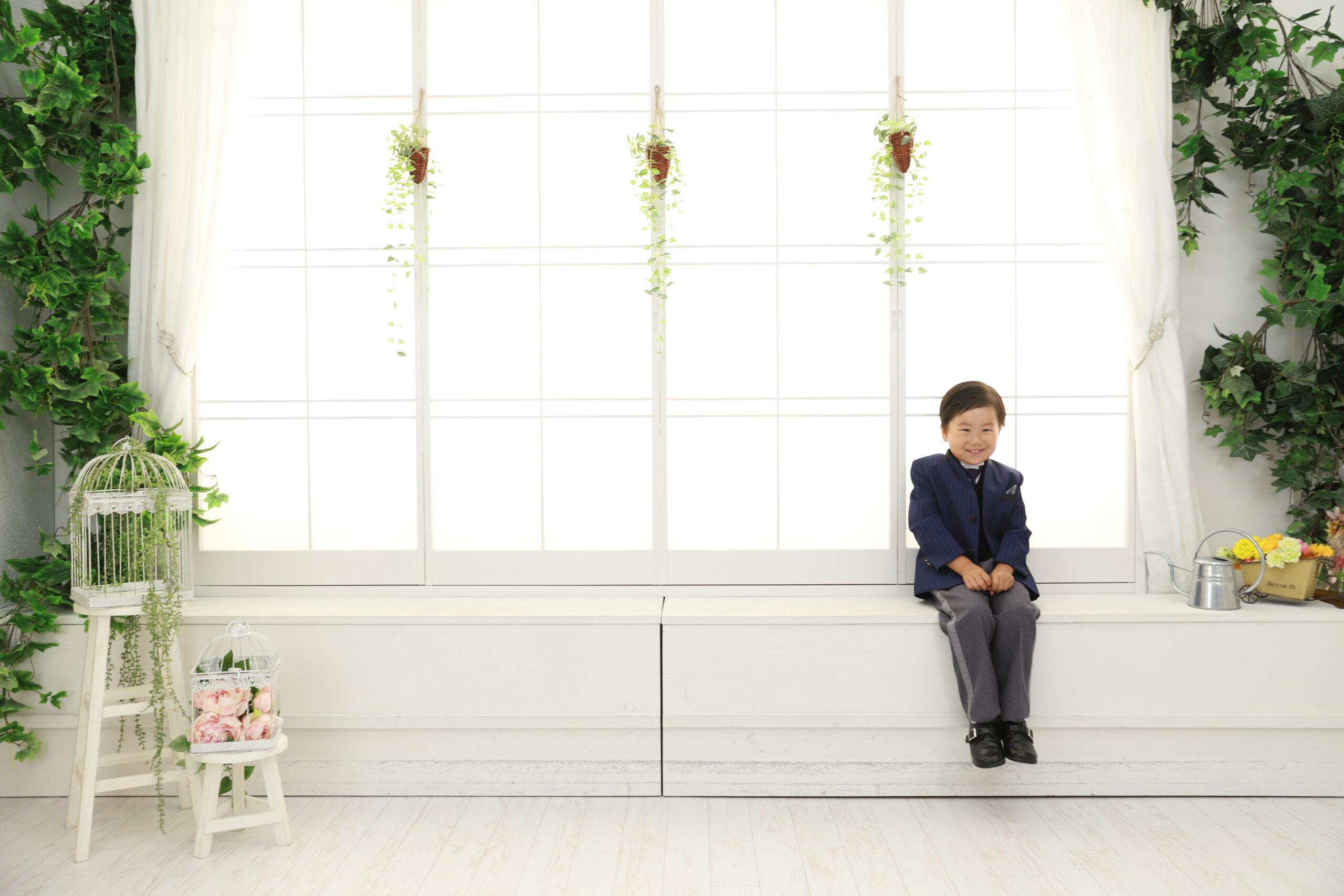 5歳の七五三 サントムーンオアシスのスタジオ4