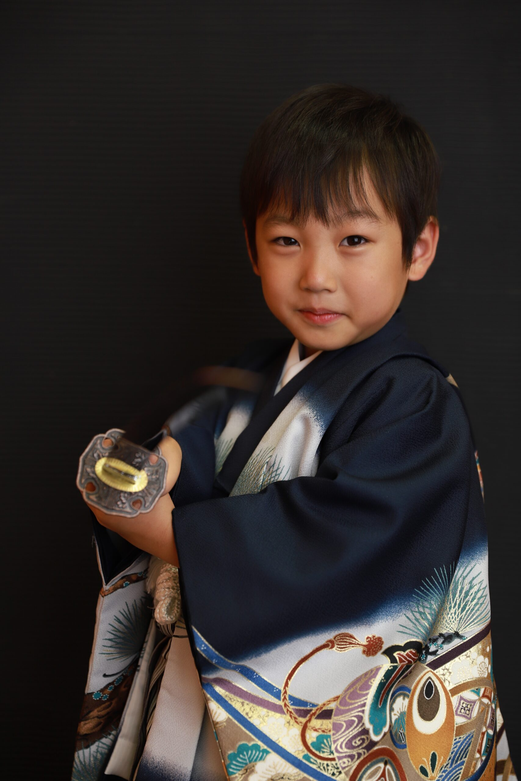 男の子に人気の剣で撮影