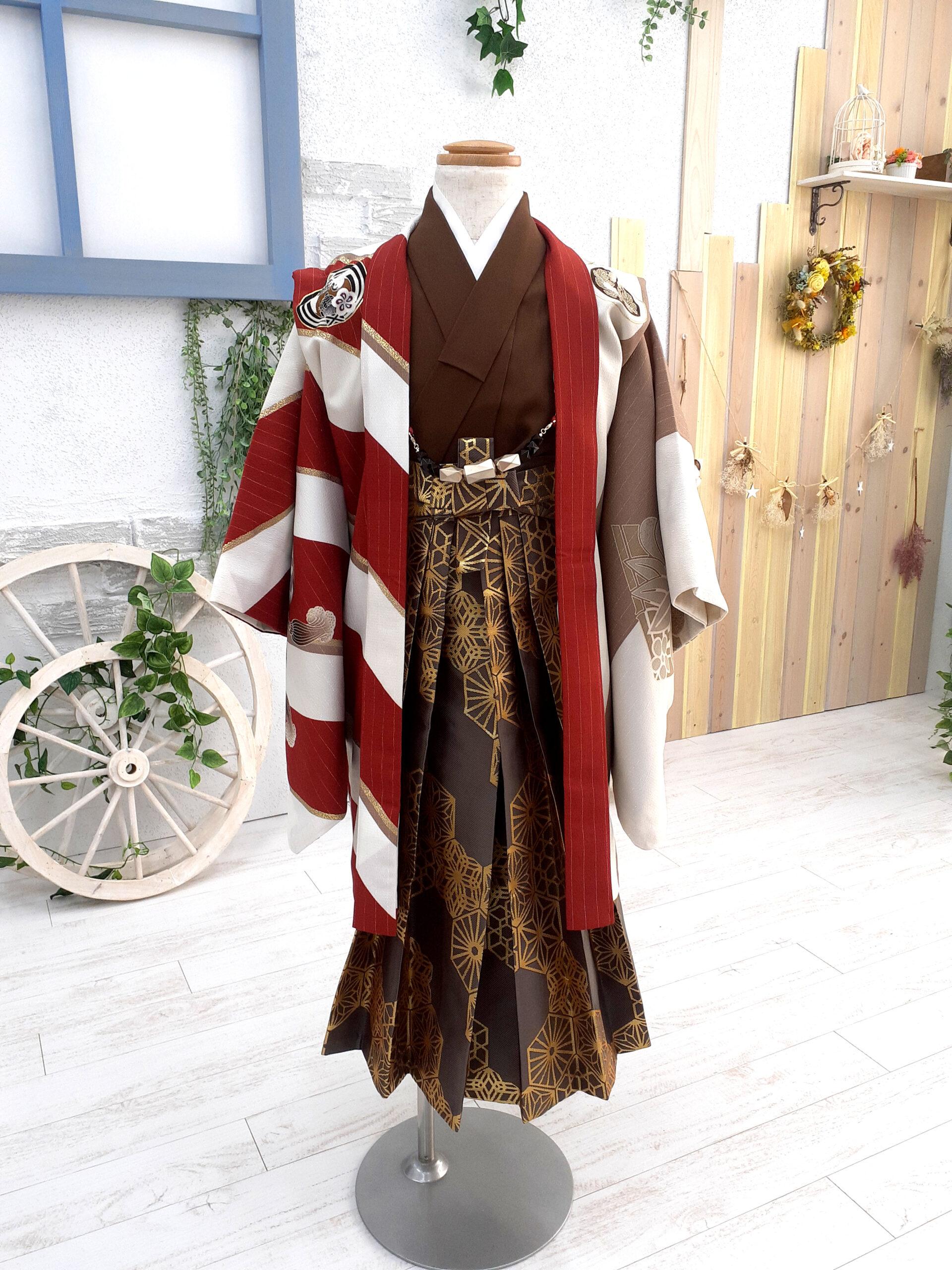 新入荷着物 5歳の着物 流行カラーのモダン着物