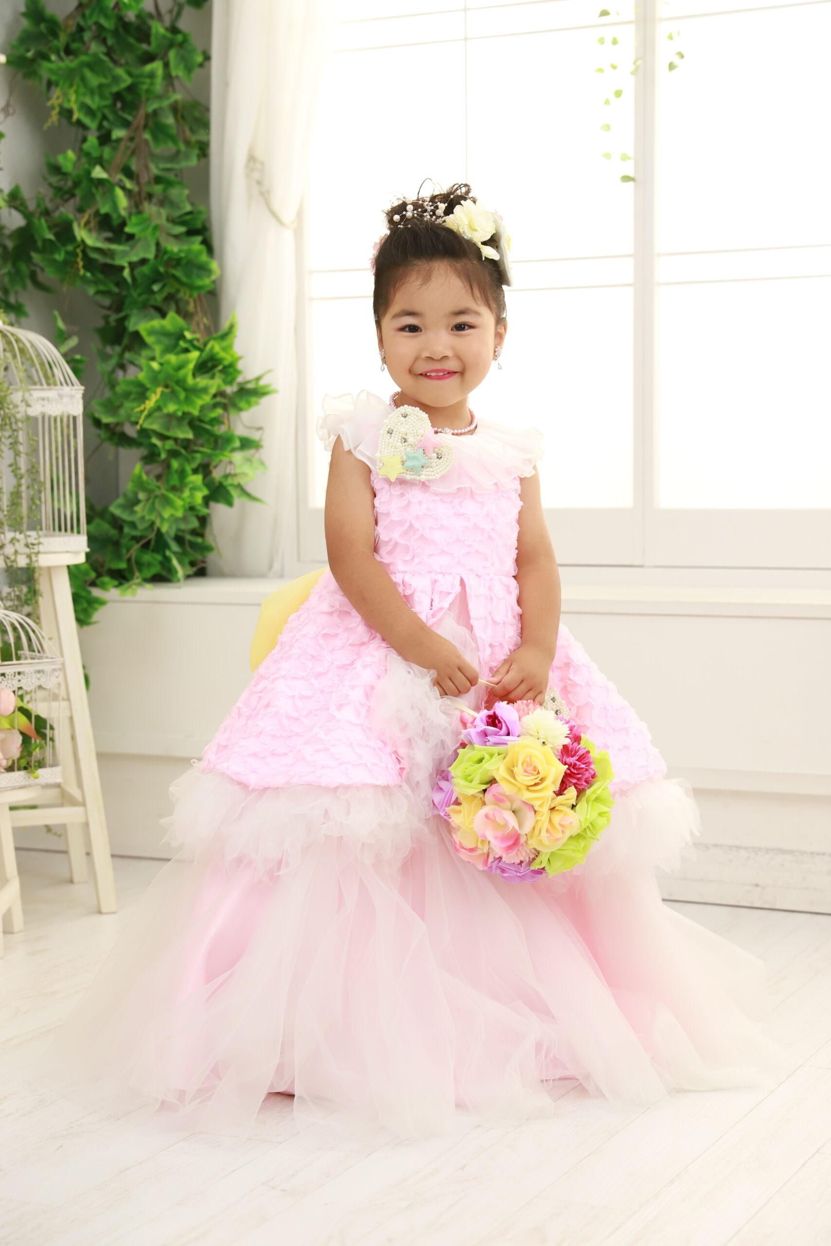3歳の七五三(ドレス・ピンク)