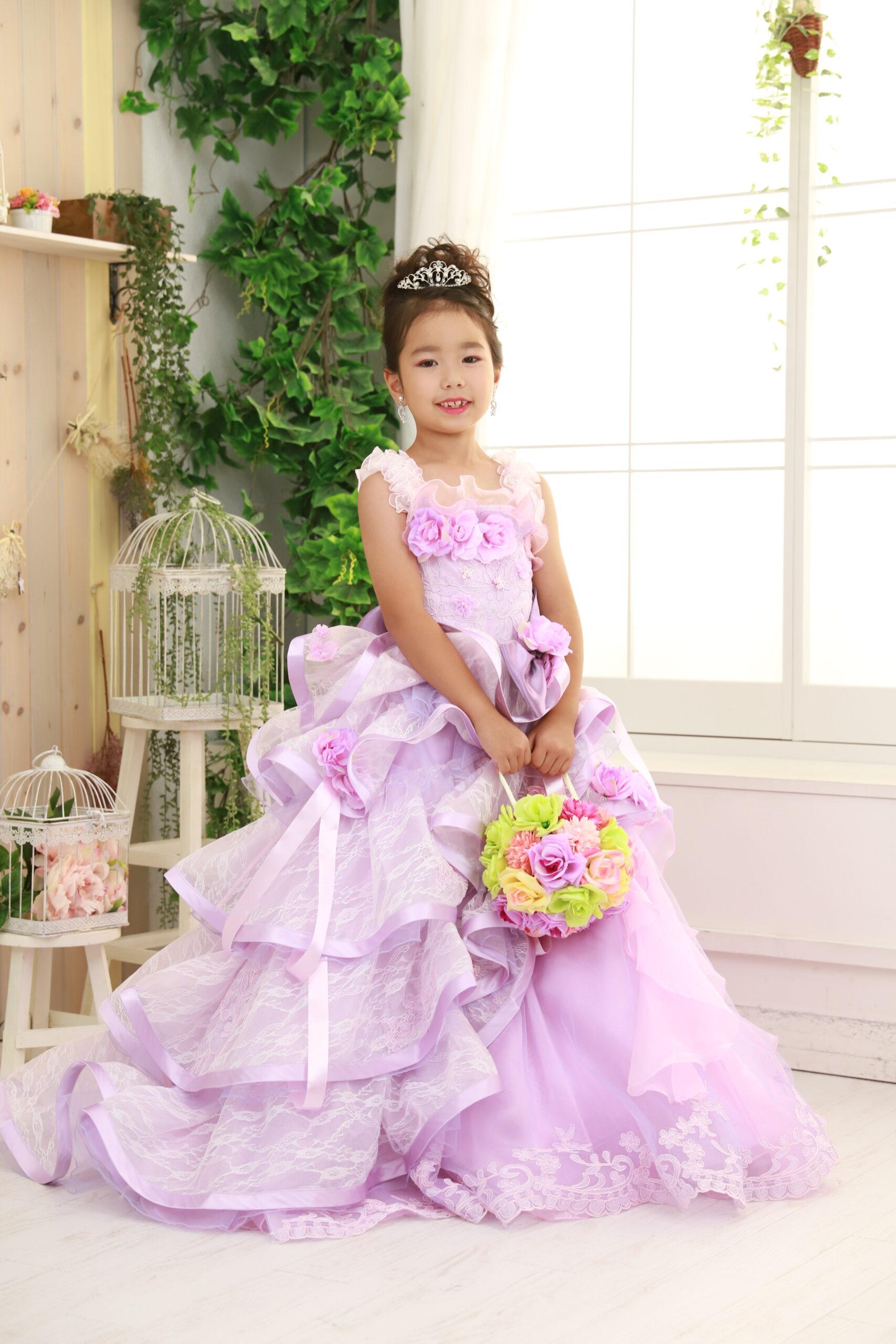 もなみの七五三 ピンクのドレスで撮影