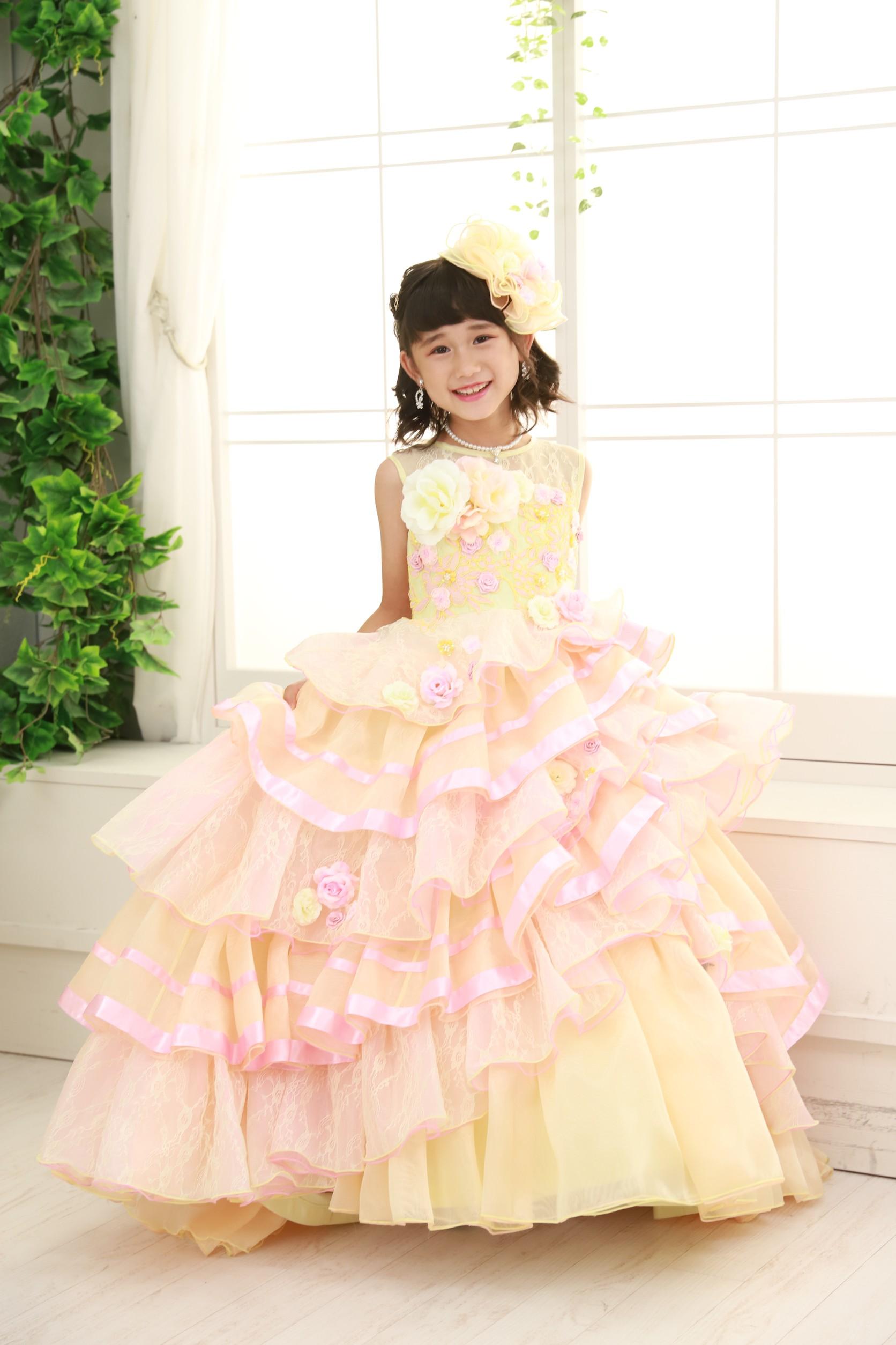 もなみの七五三 黄色のドレス