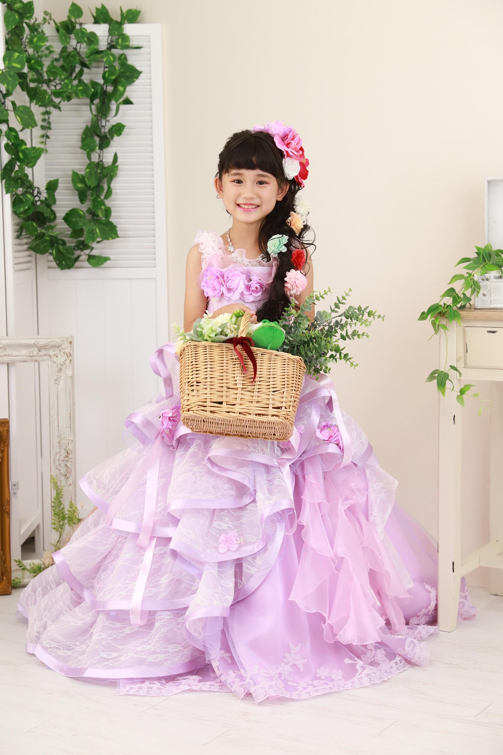 7歳の七五三(ドレス・ピンク)