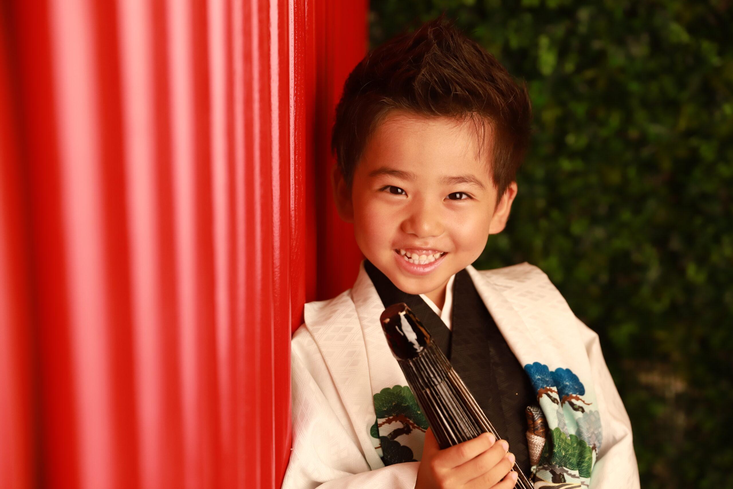 京都もなみの七五三撮影 5歳の着物