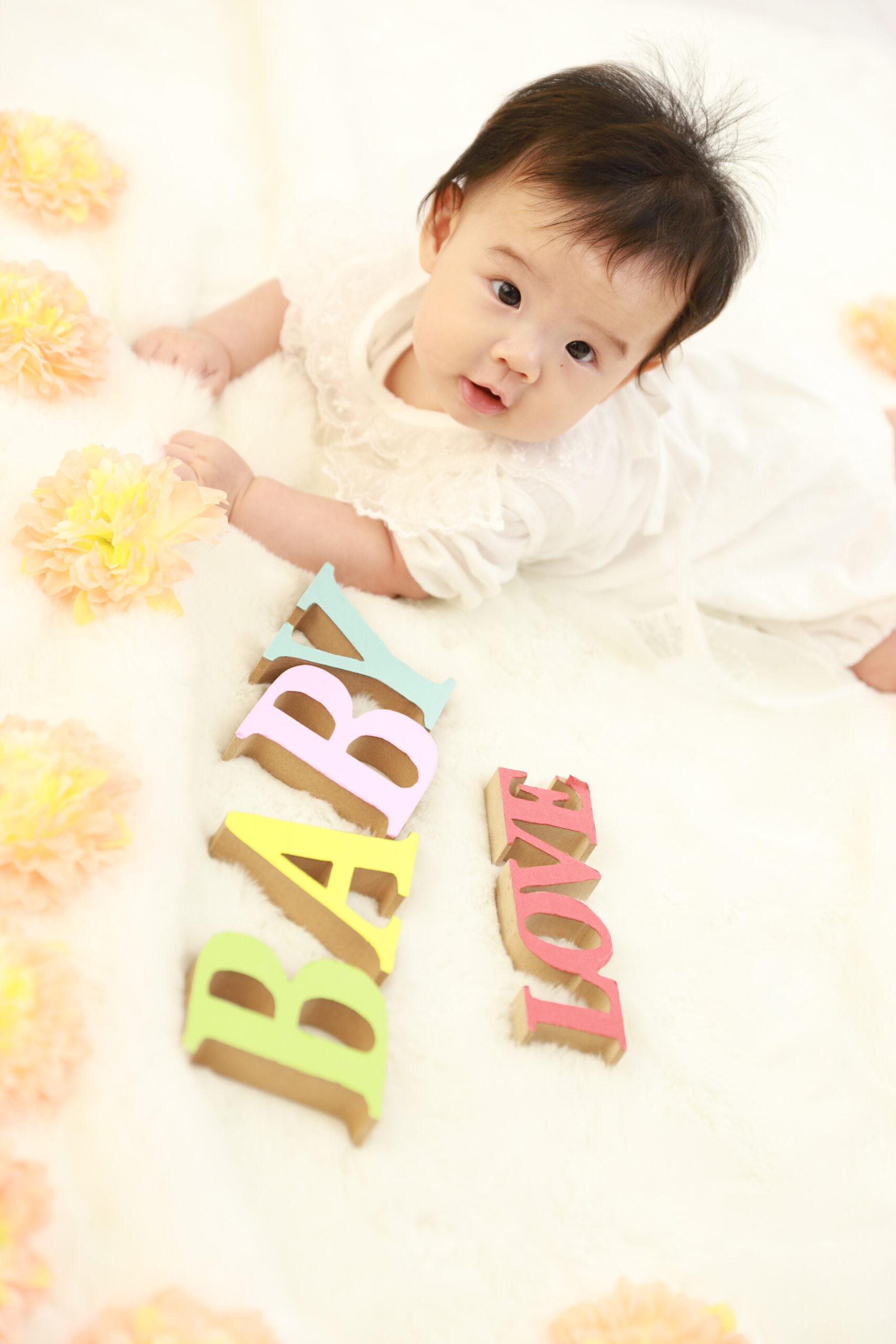 清水町の八幡神社で七五三!赤ちゃんの可愛い写真